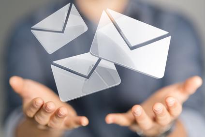 symbolisch dargestelle Briefumschläge