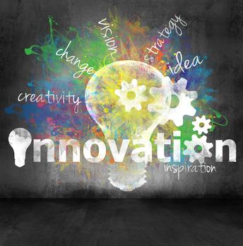 """Grafik, die mehrere verwandte Begriffe mit dem Begriff """"Innovation"""" verbindet"""