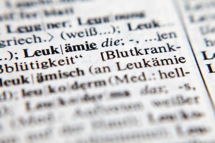 """Fotografie eines Lexikon-Eintrags von """"Leukämie"""""""